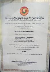 Maahad Al Iman berdaftar di bawah Majlis Agama Kedah dan Hal Ehwal Sekolah Agama Kedah (HESA)