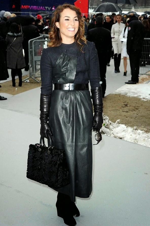 Leather full length skirt – Cool novelties of fashion 2017 photo blog