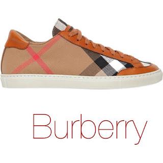tenis xadrez burberry