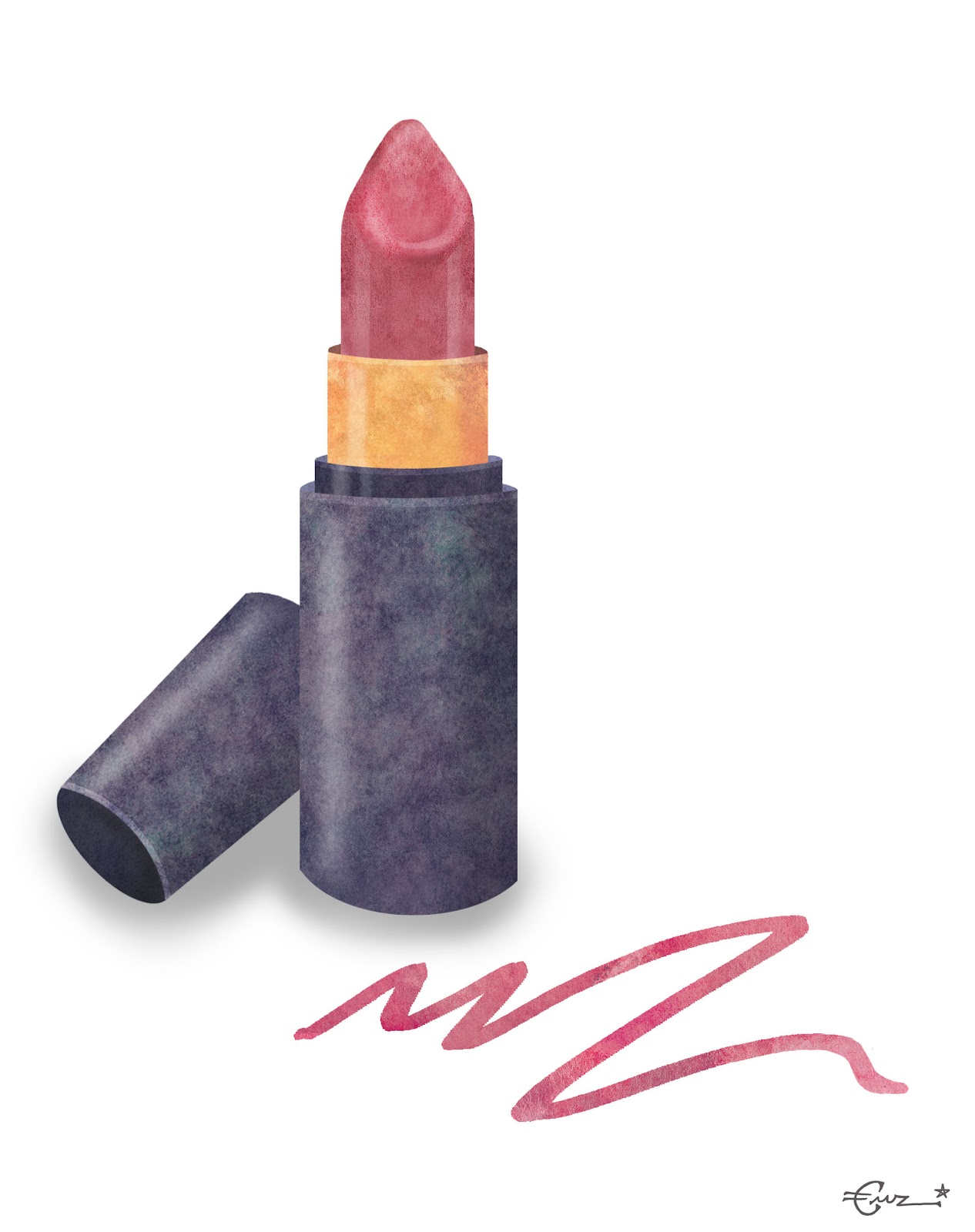 Emily Rose Illustration: Editorial Illustration: Lipstick