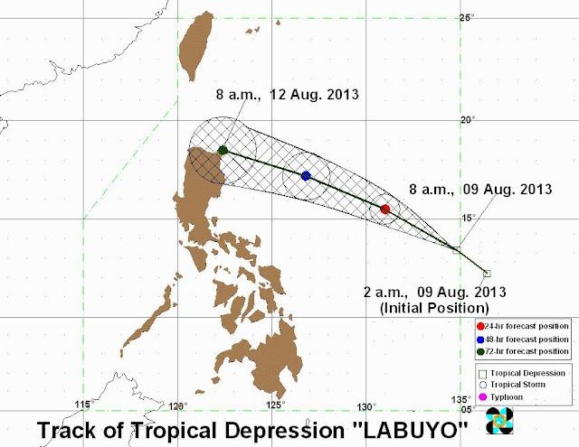 Bagyong Labuyo August 2013 forecast by PAGASA