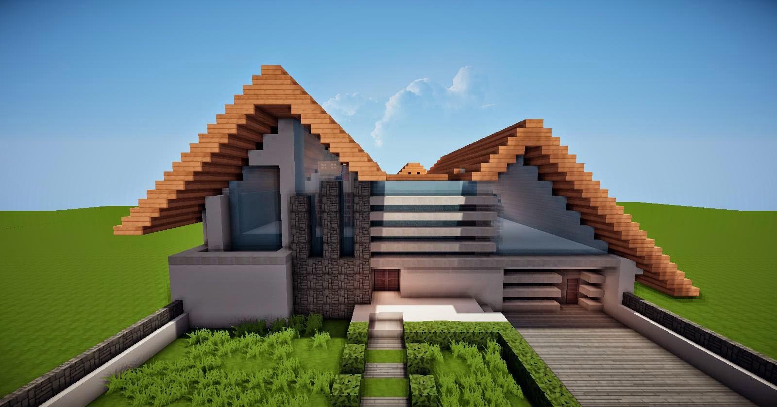 Casas modernas no minecraft for Casas modernas minecraft 0 14 0