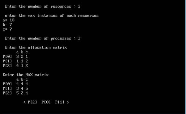 c program for bankers algorithm get program code