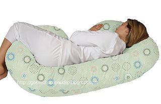 Gối ngủ ôm màu xanh dành cho bà bầu