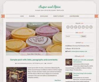 Free sugar and spice theme live download,1 Sidebar, 2 Column, 3 Column footer, Adapted from WordPress, Elegant, Featured Section, Fixed width, Responsive, Fresh, Magazine, Minimalist, Premium, Right Sidebar, Slider, Top Navigation Bar, Web 2.0, White