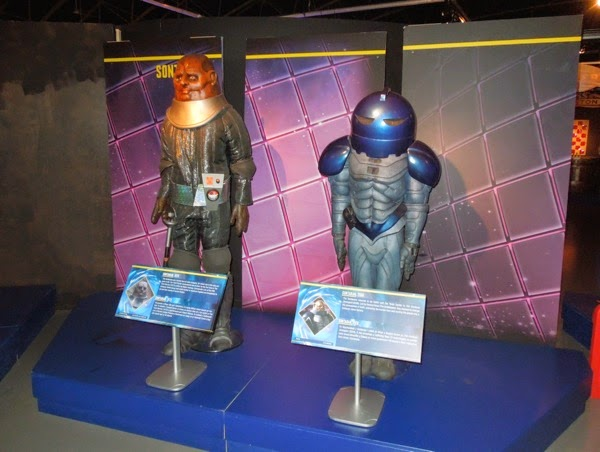 Doctor Who Sontaran costume exhibit