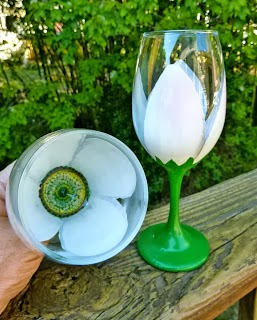Floral Painted Wine Glass Tutorial