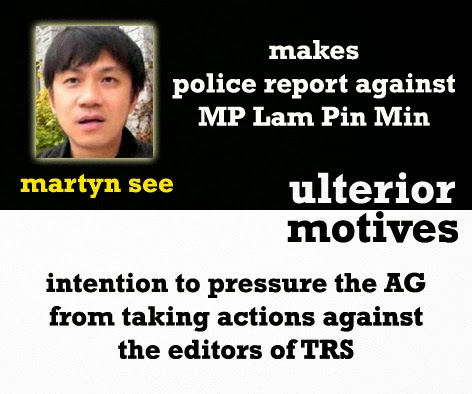 martyn see makes police report against lam pin min