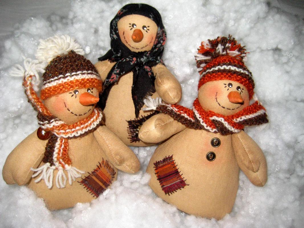 Рождественские снеговики своими руками
