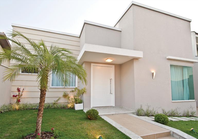 Construindo minha casa clean fachadas de casa com cores - Pintura casa moderna ...