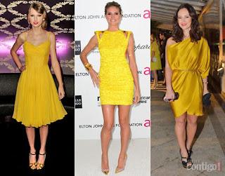 modelos de vestidos amarelo de cetim - fotos e dicas