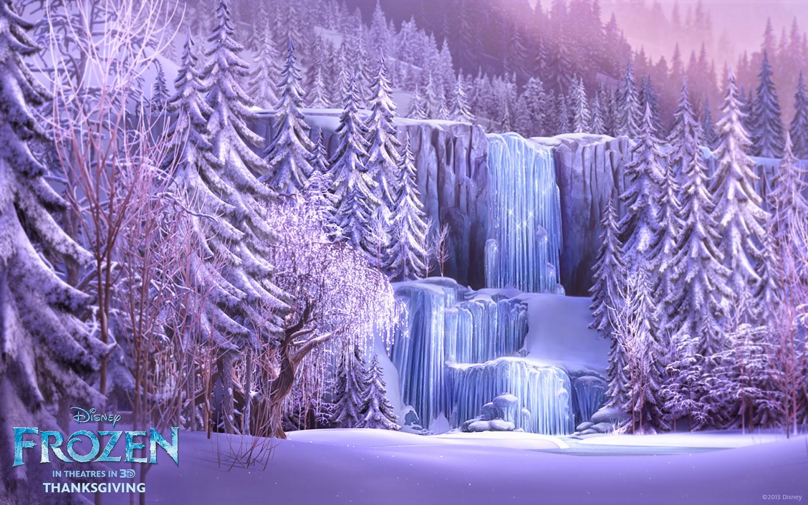 fondo de pantalla de un paisaje de la pelicula frozen