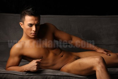Man Central Marco Morales Almost Nude Actor