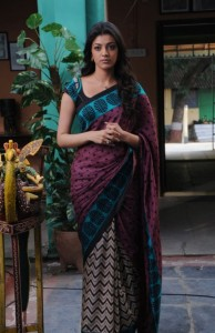 kajal agarwal hot saree pics