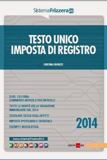 Testo unico imposta di registro 2014