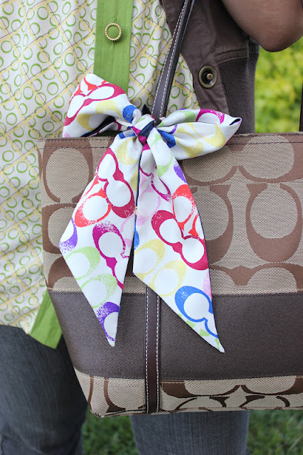 Coach Scarf and Tote Bag