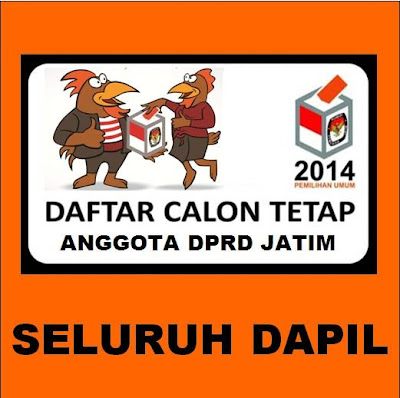 DCT DPRD Provinsi Jatim Pemilu 2014 Seluruh Dapil