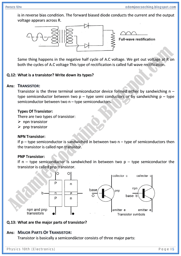 electronics-question-answers-physics-10th
