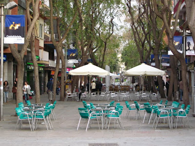 Main street of Castelldefels