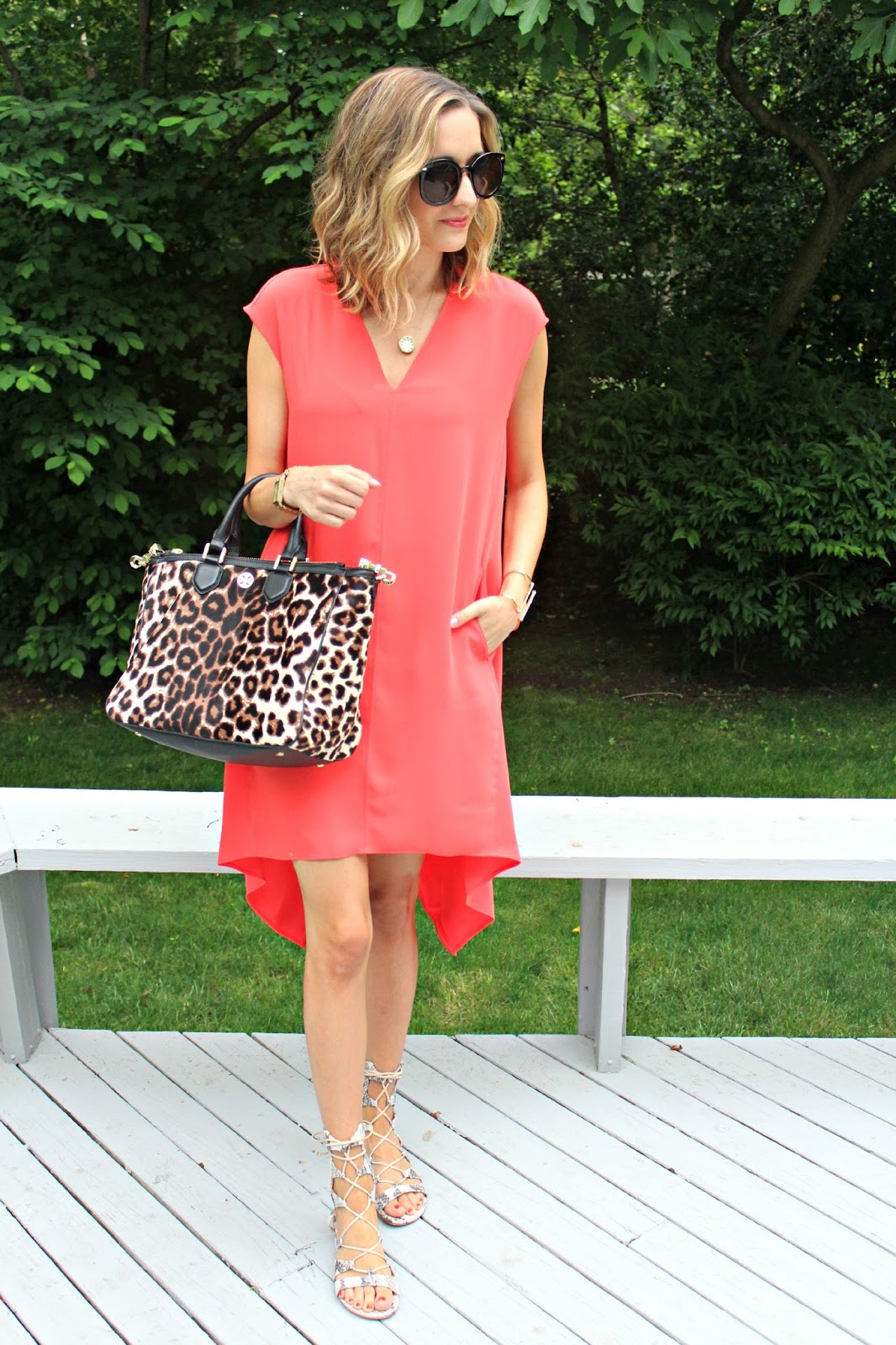 orange rachel rachel roy dress