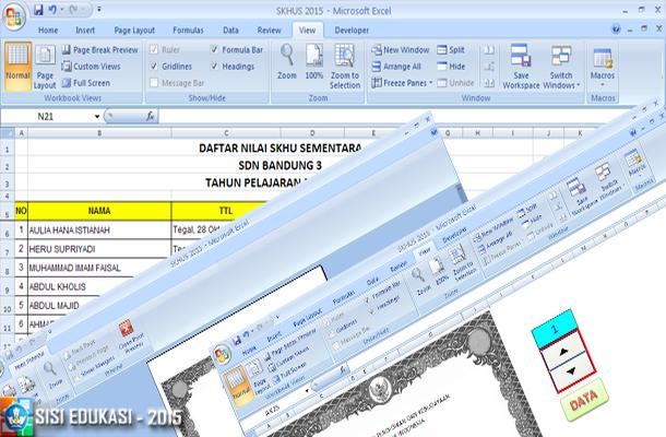 Aplikasi SKHUS SD 2015 dengan Microsoft Excel Unprotect dan Mudah Dioperasikan. Download Format File xlsx.