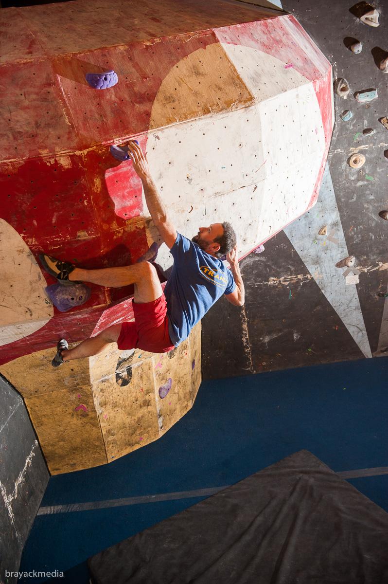 Ryan Held climbing