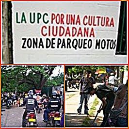 CAMPAÑA CULTURA CIUDADANA DE LOS MOTOTAXISTAS A LA SALIDA DE LA UNIVERSIDAD
