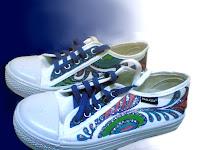 Sepatu Lukis joe 206 Cowok,sepatu lukis ornamen,sepatu lukis cowo