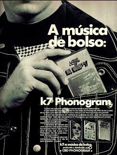 propaganda K7 Phonogram - 1974, anos 70. 1974. década de 70. os anos 70; propaganda na década de 70; Brazil in the 70s, história anos 70; Oswaldo Hernandez;