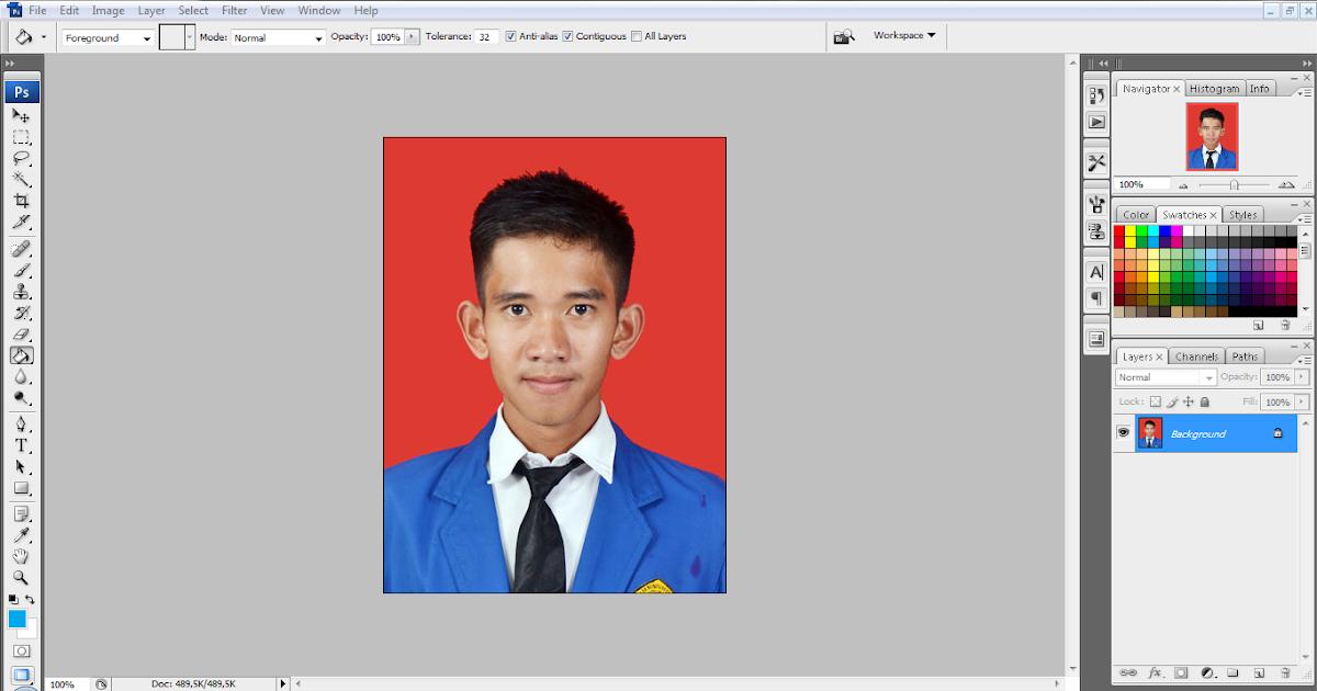 Cara Mudah Merubah Background Foto di Photoshop CS6