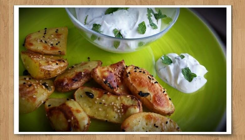 Gebackene Sesamkartoffeln