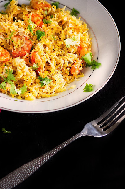 shrimp pilaf recipe with step by step pictures