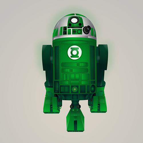 07-Green-Lantern-Steve-Berrington-Batman-v-Superman-and-their-Superhero-R2-D2-Friends-www-designstack-co