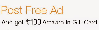 Get free Rs 100 Amazon Gift Voucher for posting an ad on Junglee