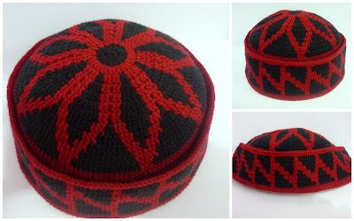 Crochet.is.Fun: Kopiah Raya~