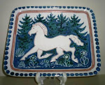 Elle Keramikk firkantet fat, 28,5 x 23,5 cm