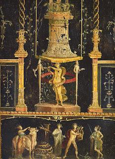 Casa de los Vetii. 11. Triclinium (Sala de los Cupidos; entrada desde corredor derecho del peristilo) - Detalle