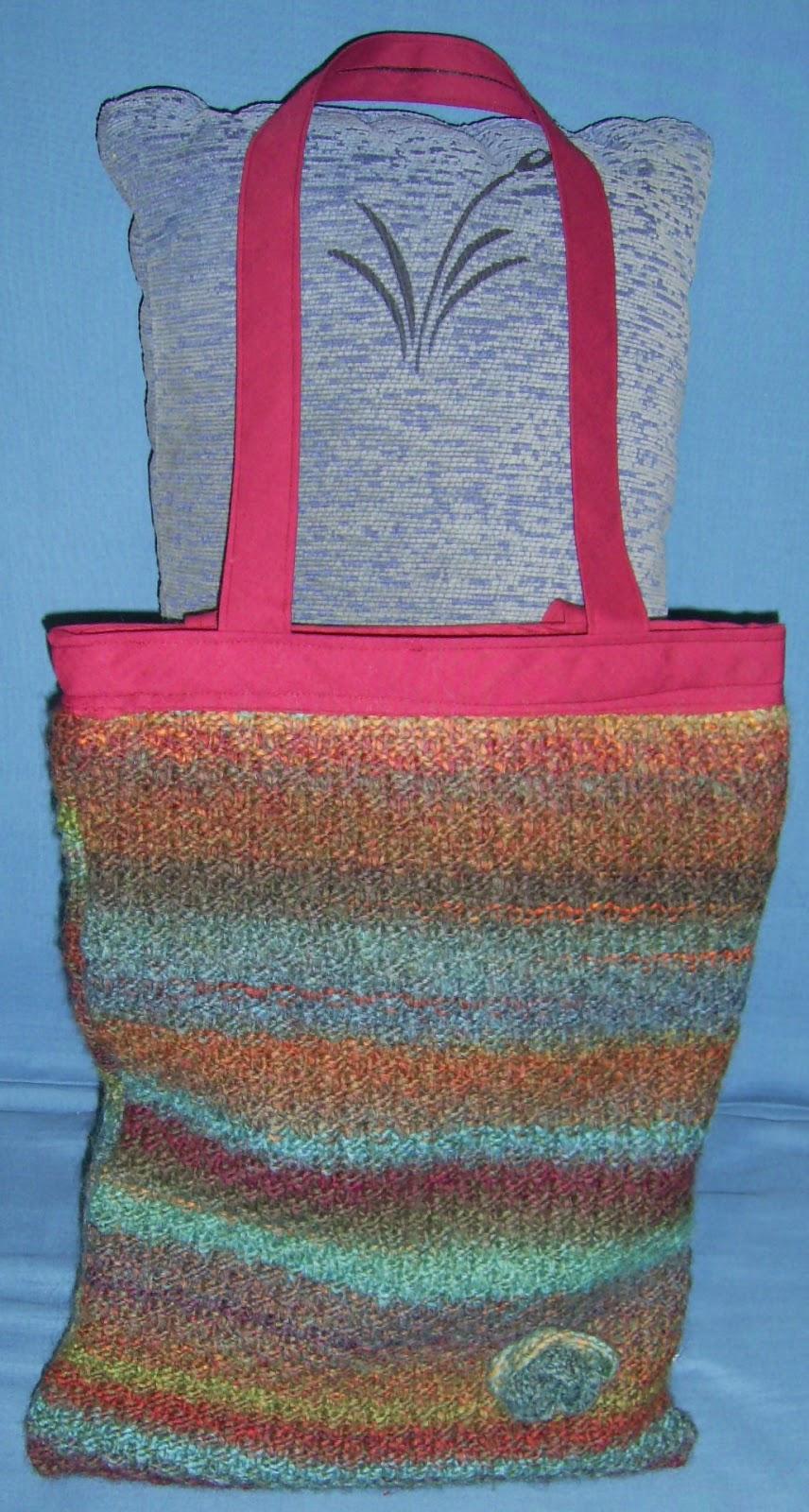 Mirar leer saber manualidades bolso de lana - Manualidades en lana ...