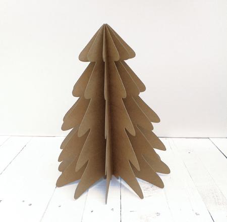 D corez votre sapin de no l en carton selfpackaging blog - Como hacer un arbol de navidad de carton ...