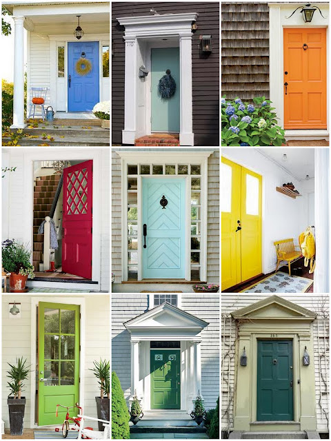 Colorful Front Doors Mesmerizing With Darling Darleen: Colorful Front Door Images