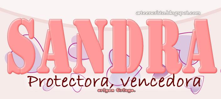 Tarjetas De Cumple Anos Con Nombres Sandra