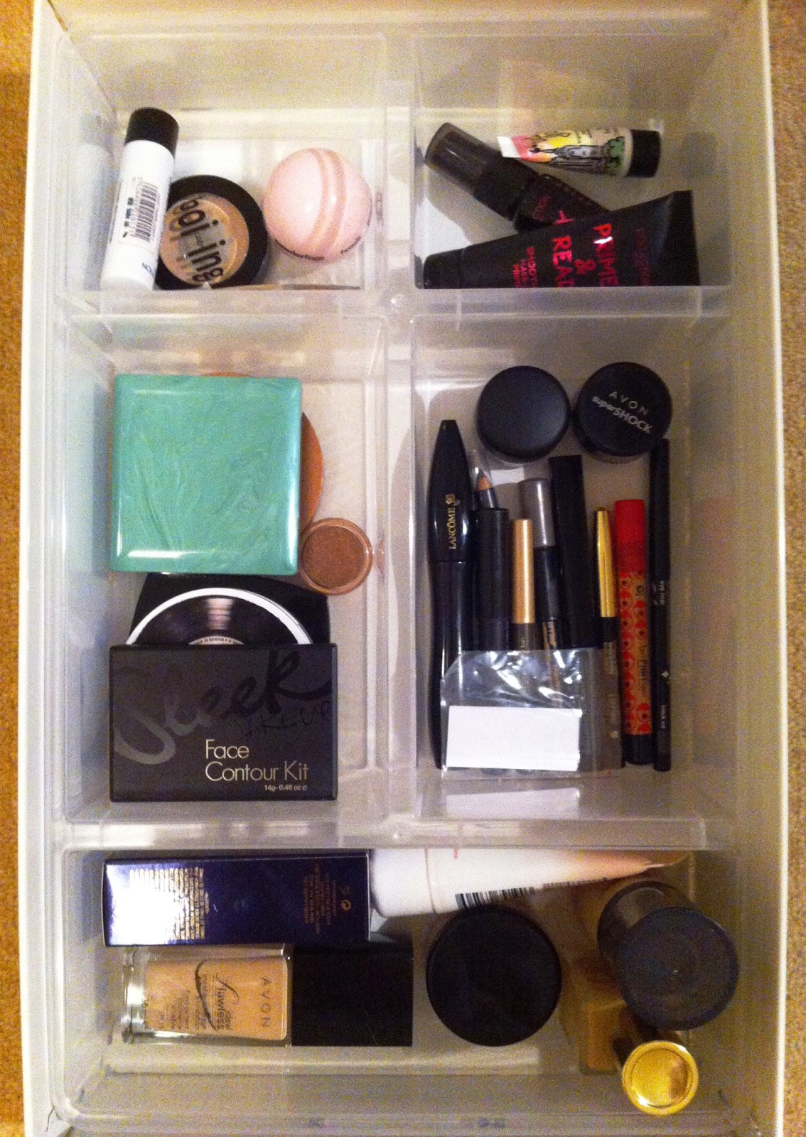 14.2.13 & Beauty Box: Ikea Helmer Makeup Storage Idea