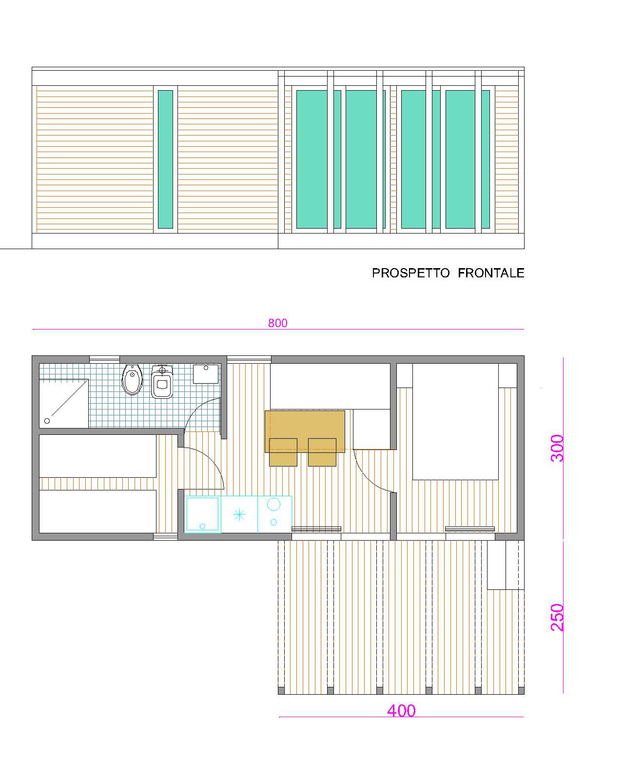 Progetti di case in legno casa mobile ginepro 24 mq for Progetti di case costiere