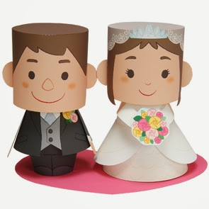 Message Doll (Wedding) Paper Toy Papercraft Model