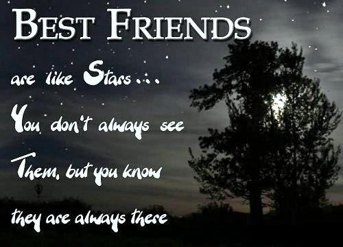 best friends are like stars inspirational picture quotes