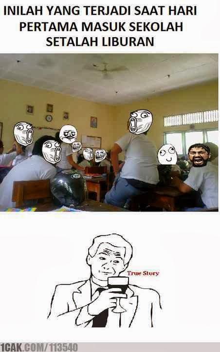 foto lucu masa sekolah