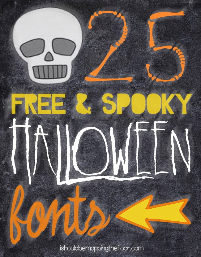 Free Halloween Fonts | 25 of the creepiest, scariest, and FUN Halloween fonts in one place!