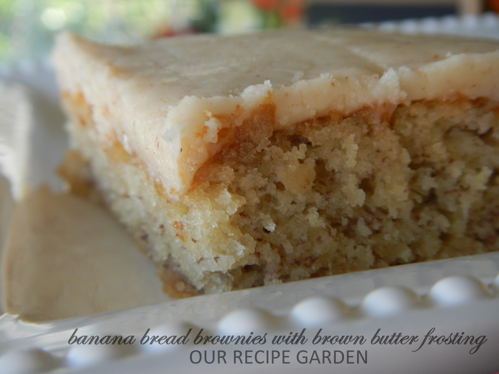 Our Recipe Garden Banana Bread Brownies With Brown Butter