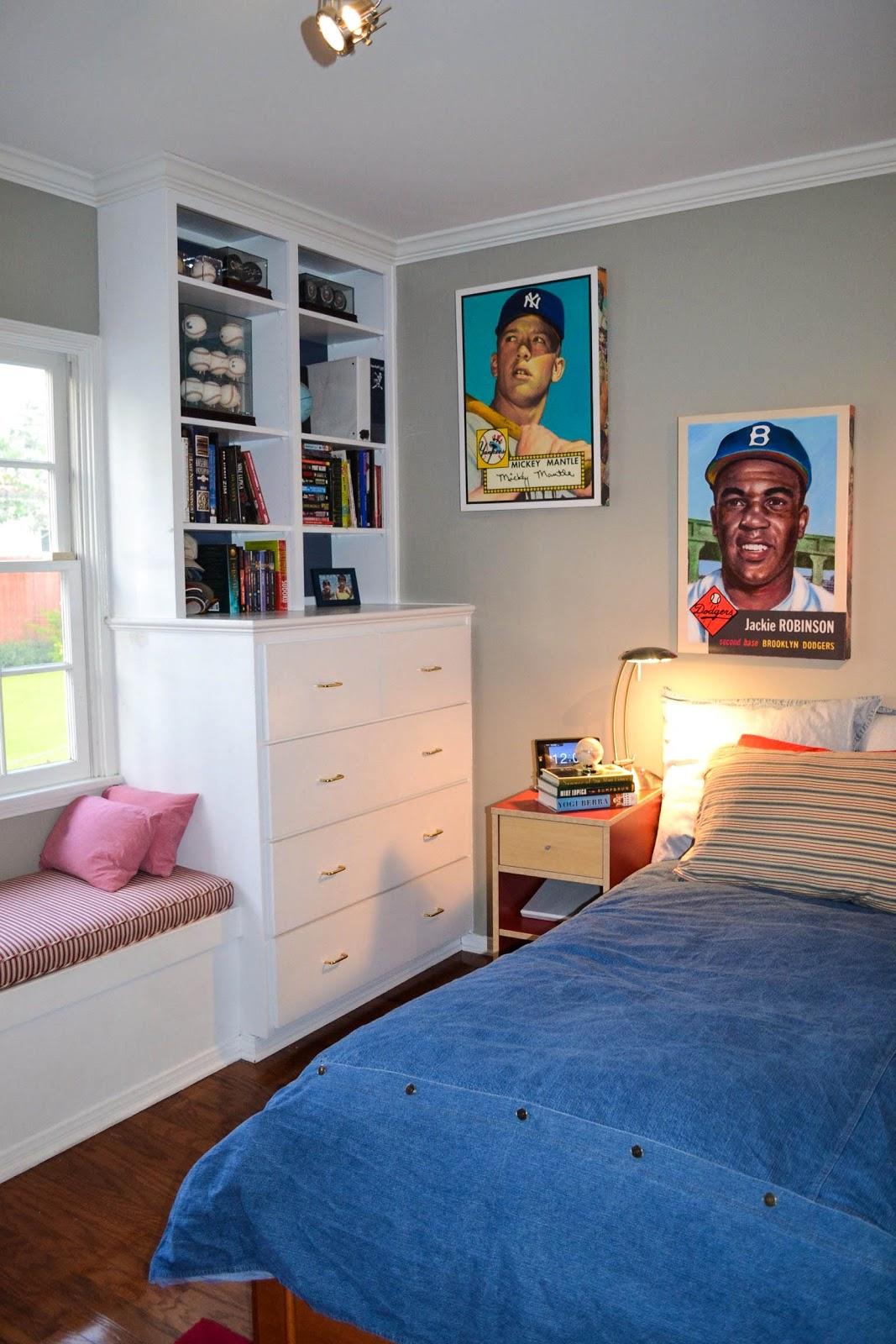 My Teenage Boys Baseball Room Filled With NY Yankees Memorabilia