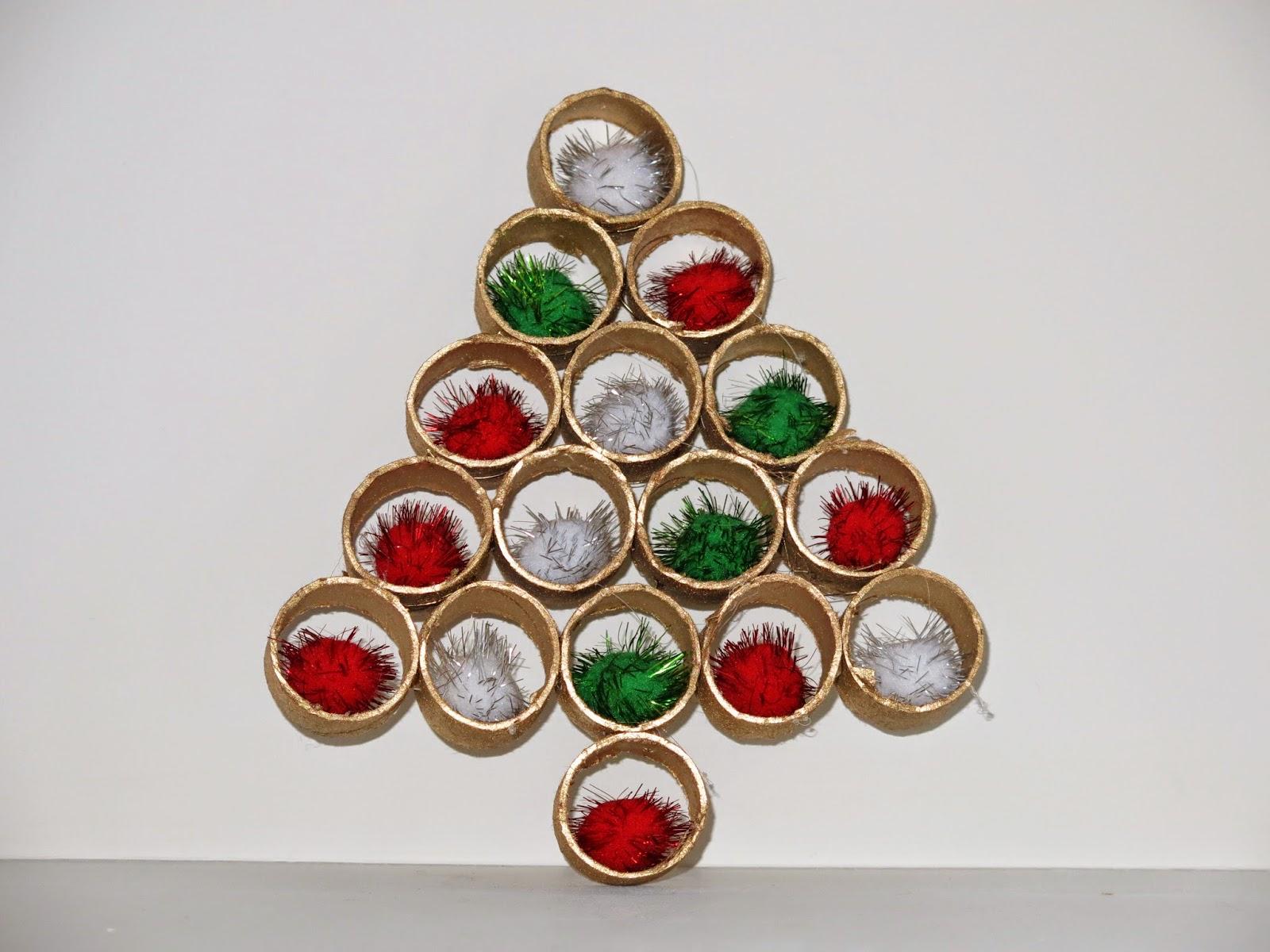 Caker cooking cardboard tube christmas tree